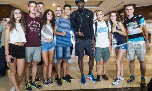 Samuele Licata con Usain Bolt