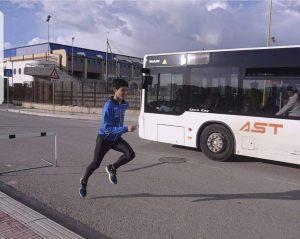 Samuele Licata, allenamenti per strada