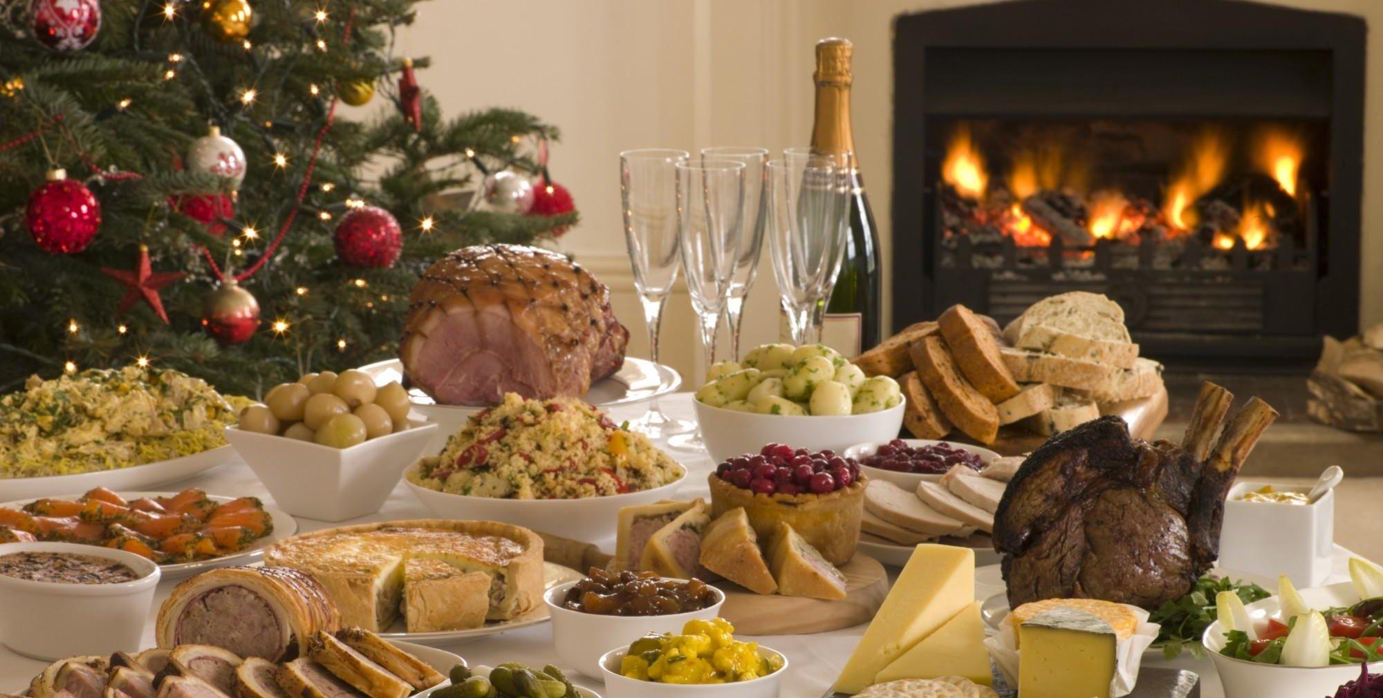 le pietanze della cena di Natale
