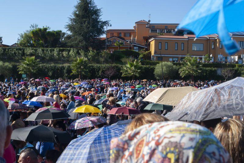 Natuzza-folla per la processione