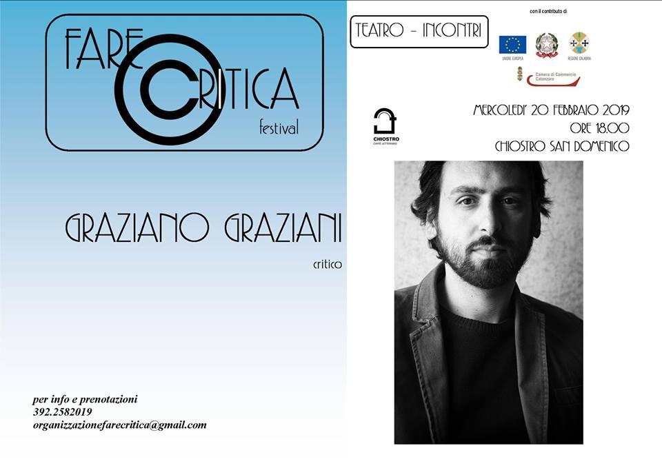 Fare Critica locandina festival con foto di Graziani