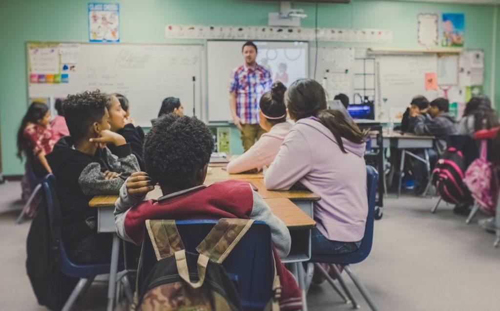 Lingue Straniere Classe Scolastica Durante Una Lezione