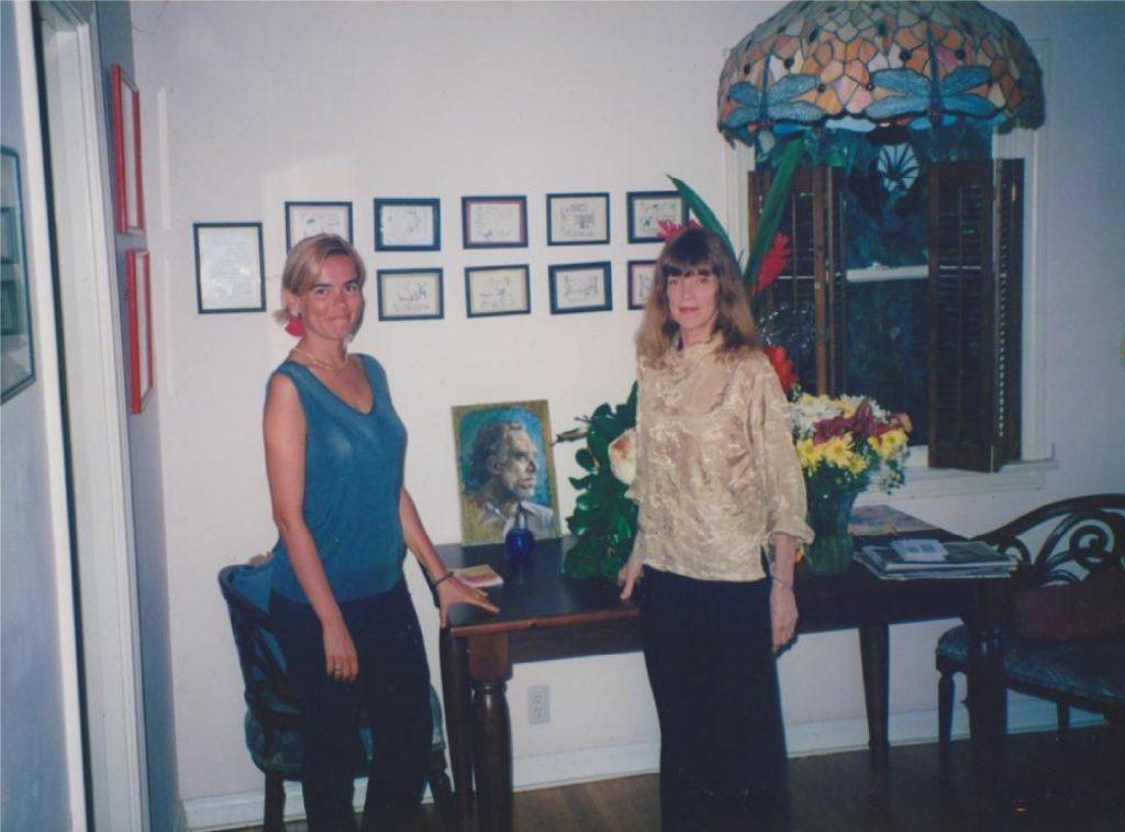 Simona Viciani nella casa del poeta
