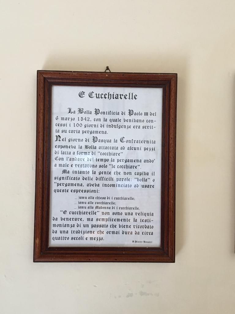 le Cucchiarelle nel documento ufficiale incorniciato