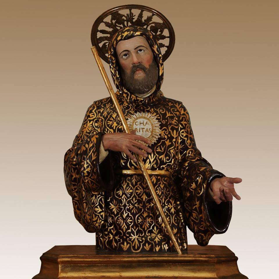 Francesco Di Paola Il Busto del santo venerato nel santuario di Lamezia