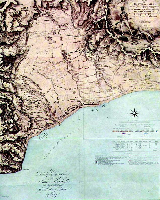 Cartina Del Campo Di Battaglia Nel Golfo Di Sant'eufemia