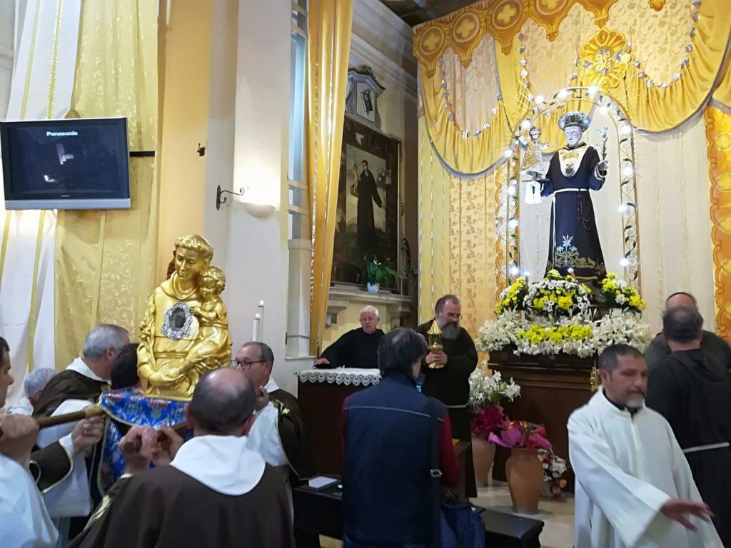 le reliquie di San Francesco e di Sant'Antonio al santuario di Lamezia