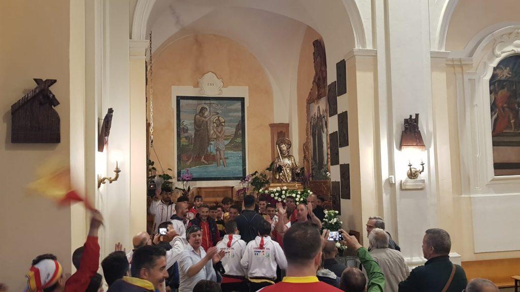 vescovo Schillaci - Tifosi ringraziano San Francesco