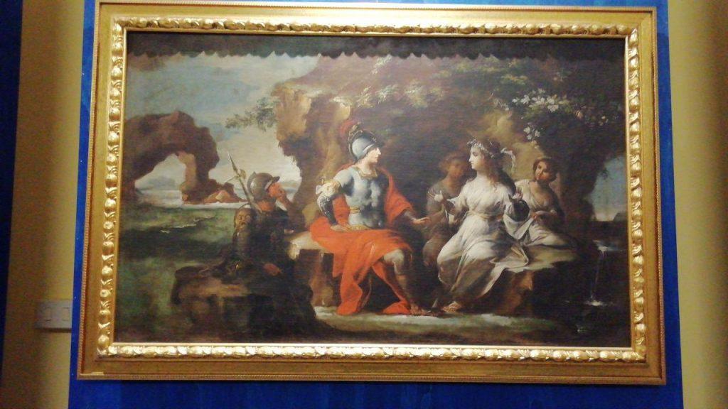 Enea e Didone un dipinto di riverberi pittorici esposto a palazzo de medici