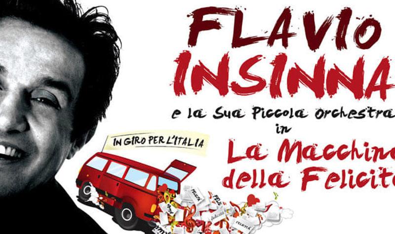 Flavio Insinna e la Locandina dello spettacolo