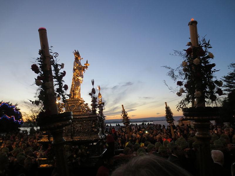 la festa della santa a  Siracusa