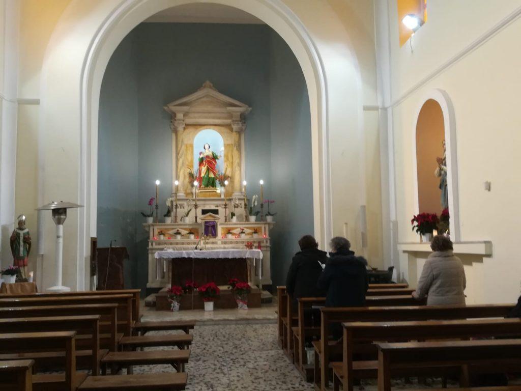 Interno della Chiesa di Santa Lucia a Lamezia