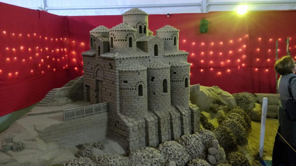 Presepe Di Sabbia col castello di stilo