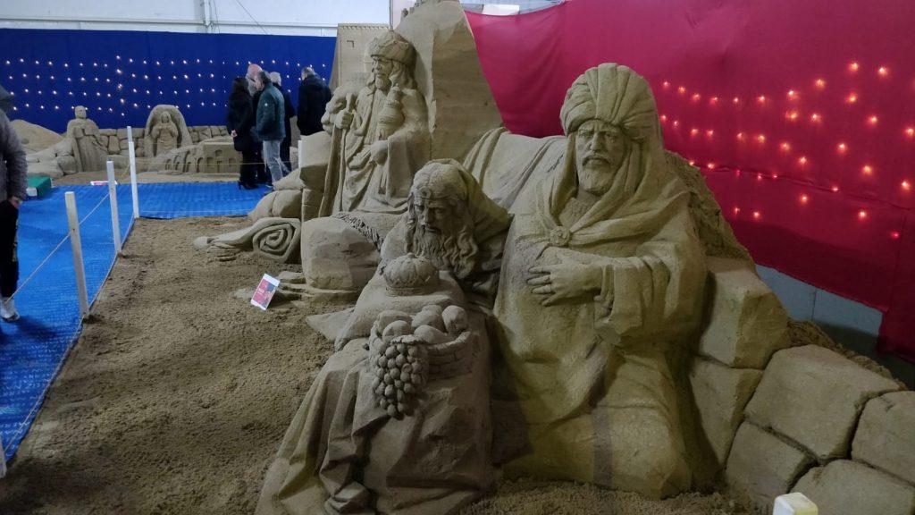 Presepe Di Sabbia con i Re Magi