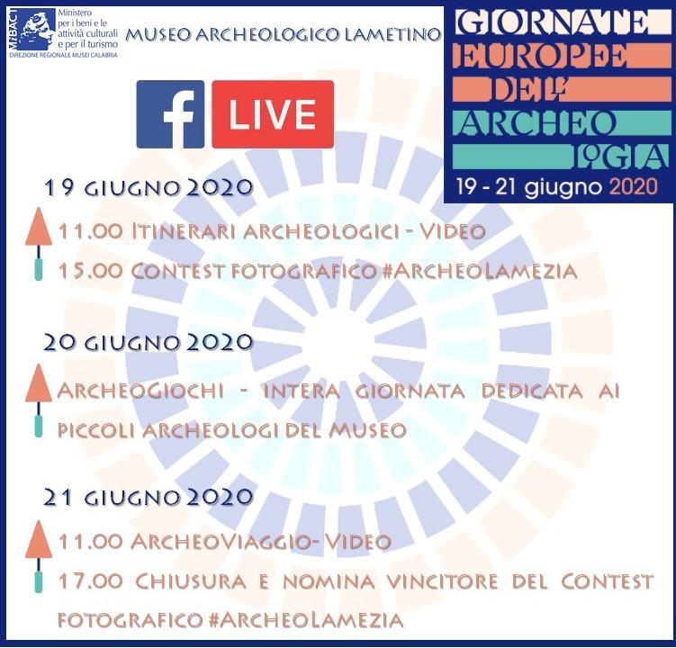 Programma Giornate Europee Dell'archeologia A Lamezia