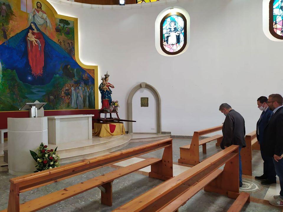 Spirli E Marrelli visitano il santuario della buda