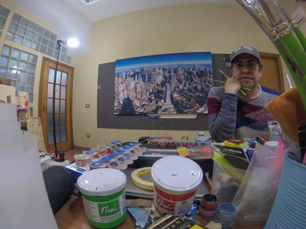 Marco Barberio Nel Suo Studio