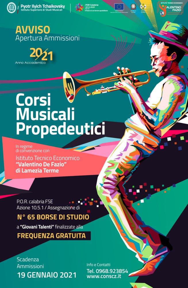 Locandina Corsi Propedeutici Di Musica Gratuiti