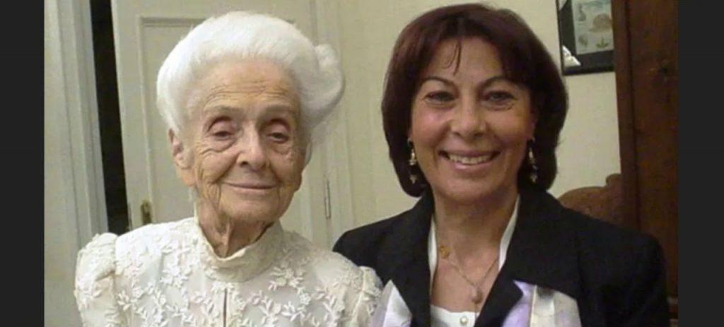 Amalia Bruni Con Rita Levi Montalcini