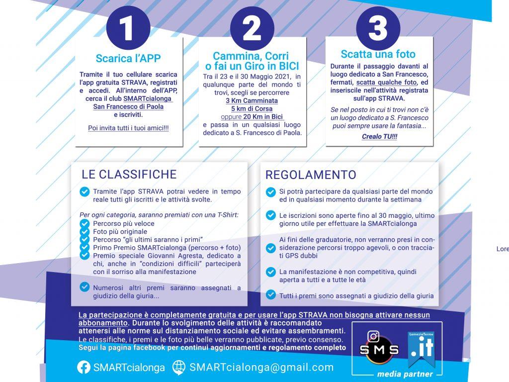 Regolamento per partecipare alla Seconda Edizione SMARTcialonga