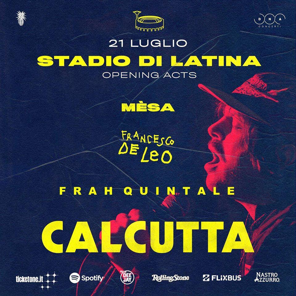 Calcutta - Copertina del disco