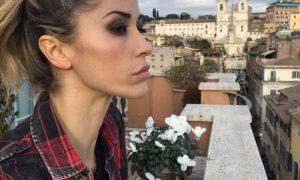 Elena Santarelli -la modella a Roma
