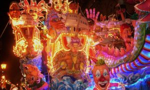 il carnevale nel lazio - un carro allegorico