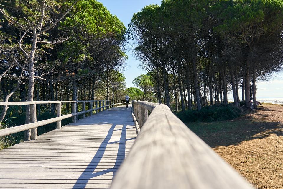 Attività consentite su pista ciclabile - Pista Ciclabile vicino al mare