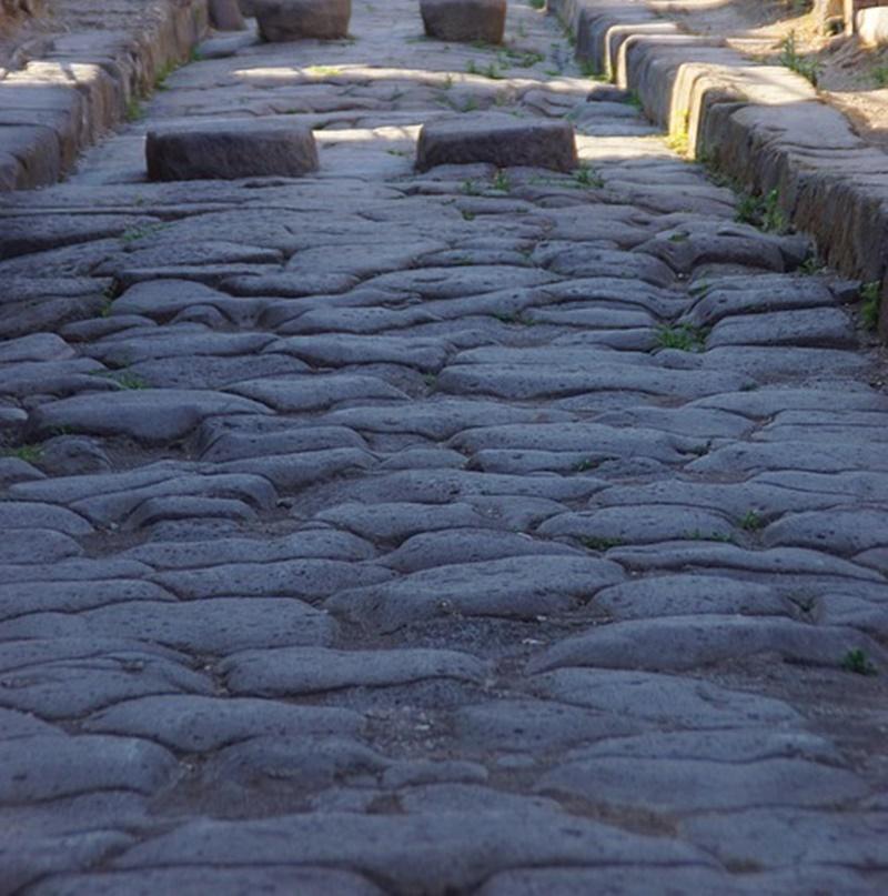 Tres Tabernae - Strada Romana in dettaglio