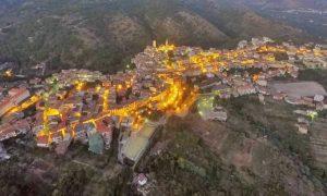 Castelforte - veduta in notturna del borgo pontino