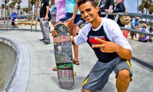 Skate-park a Latina - Skater che posa in foto