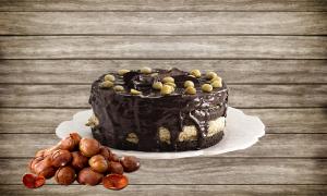 la torta di castagne - Torta Impiattata con cioccolato