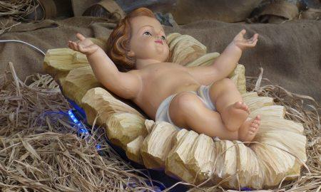 il presepe di Gaeta - Gesù Bambino appena nato