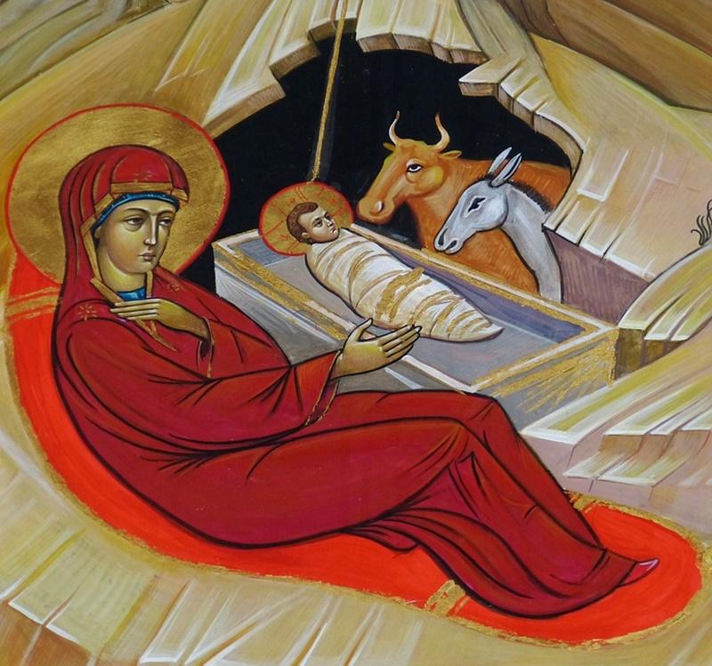 il presepe di Gaeta - Bue E L'asinello con Gesù bambino