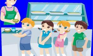 Mense scolastiche - Mensa scolastica con inserviente