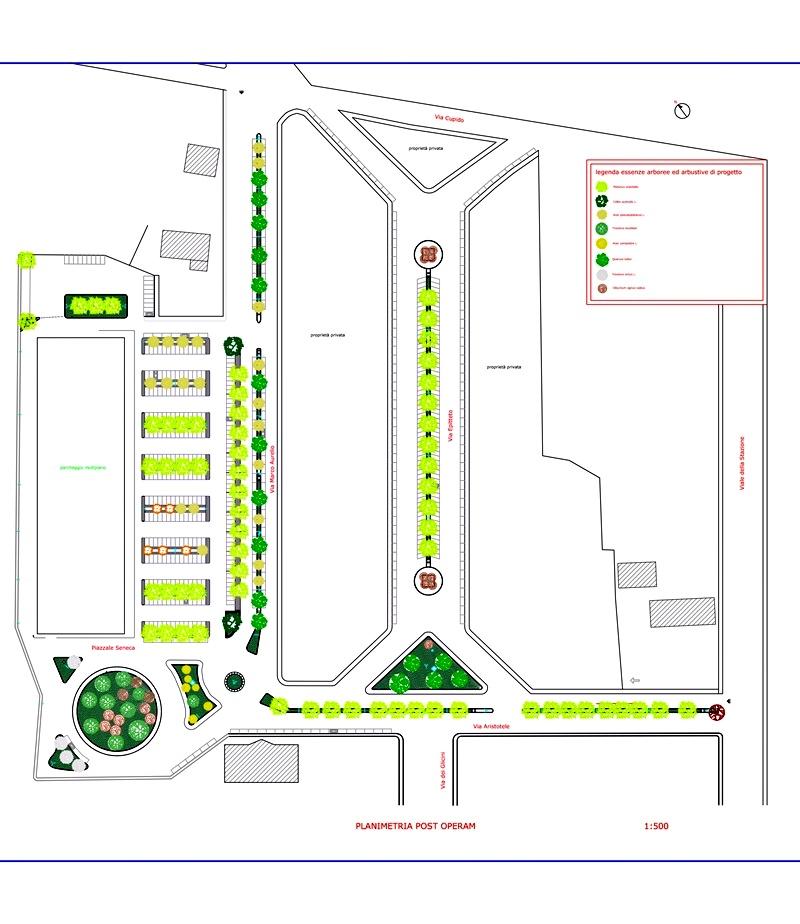 Rimborsi ai cittadini - Planimetria Post Operam del parco
