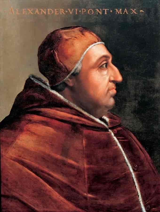 Lo Statuto di Lucrezia Borgia - Papa Borgia in un ritratto ufficiale