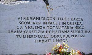 il giorno del ricordo - Lapide nel cimitero di Fiume