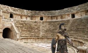 Anfiteatro romano a Fondi - Anfiteatro con gladiatore