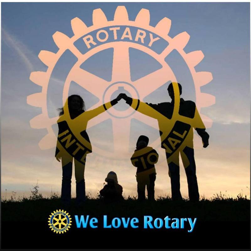 Pacchi alimentari dal Rotary Club - Rotary nel suo simbolo