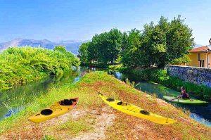 Il fiume Cavata in canoa - Fiume Cavatadall'alto