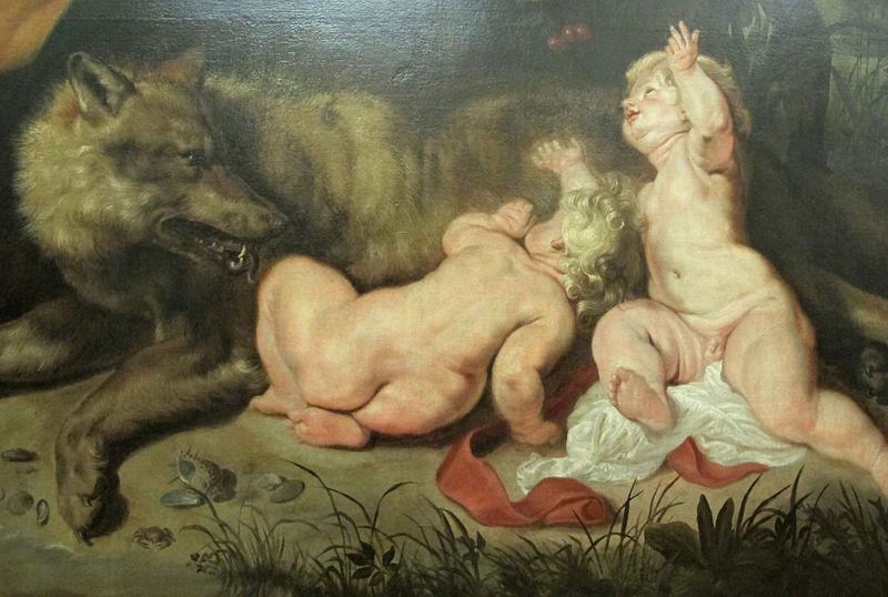 Rea Silvia - Romolo E Remo trovati dalla lupa