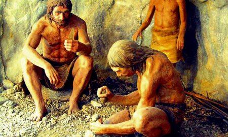 Uomo di Neanderthal al Circeo - Gruppo Di Ominidi intorno al focolare