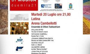 Festival Pontino 2021 - Festival Pontino in locandina