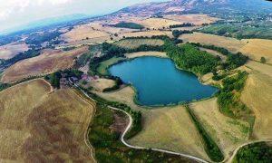 Il lago di Giulianello - Lago preso Dal Drone
