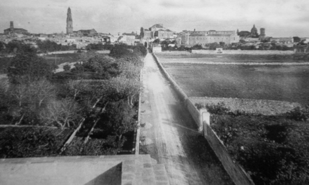 Via Delle Anime Quartiere San Pio - una foto d'epoca