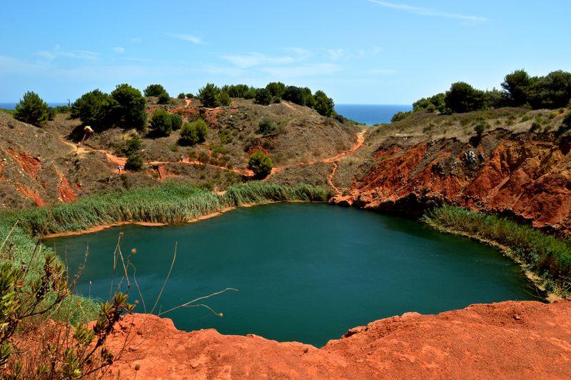 Cava Bauxite Otranto - panoramica del lago