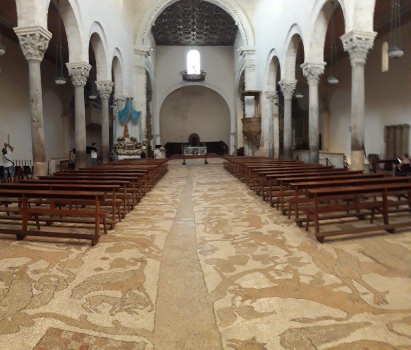 Mosaico Di Otranto - il pavimento interno