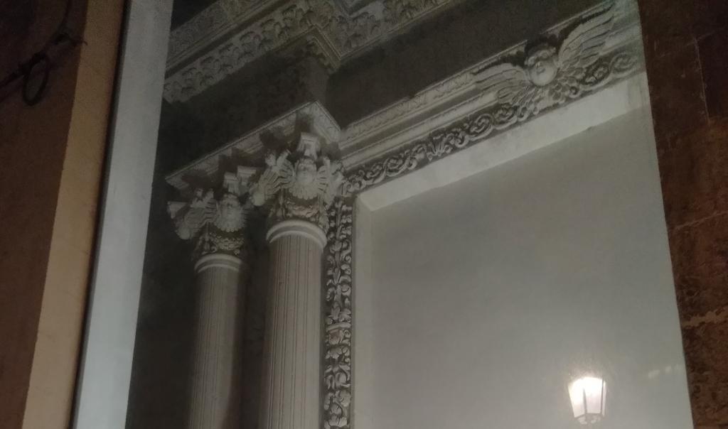 Dettaglio della facciata della chiesa san giuseppe a lecce