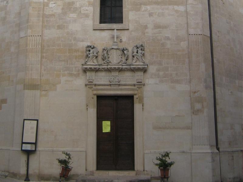 Chiesa delle Anime Sante del Purgatorio Galatina - ingresso centrale
